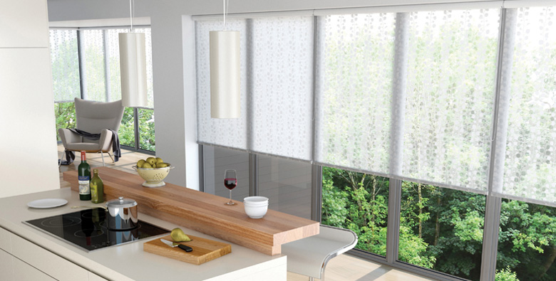 Apartment roller blinds