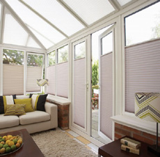 Pleated blinds with frame for roof